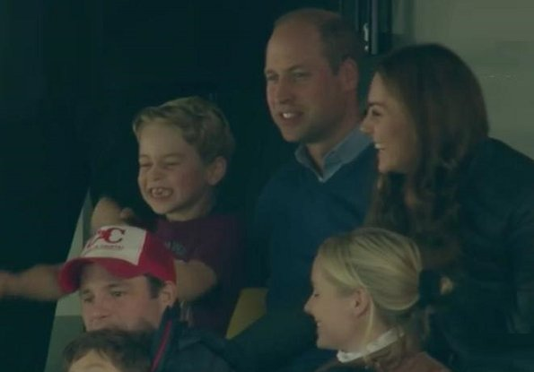 Prince William, Prince George and Princess Charlotte. Kate Middleton wore her Barbour Longshore Quilted jacket
