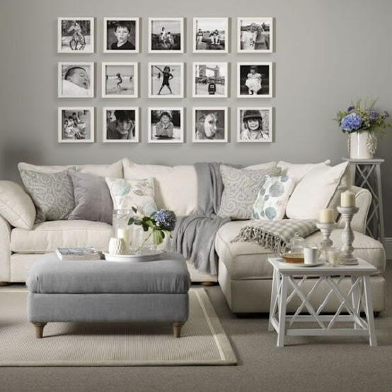 Photo frame composes the decoration of the living room