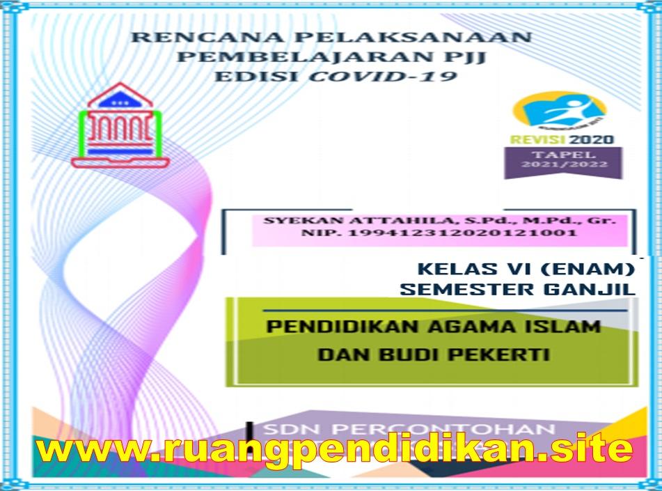 RPP Daring 1 Lembar PAI dan BP Kelas 6 SD/MI