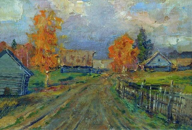 Исаак Ильич Левитан - Осенний пейзаж. 1890-е