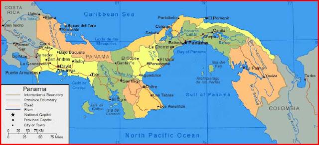 Gambar Peta Panama