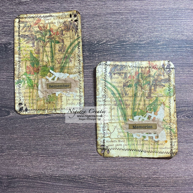 Edith Holden Master Board: Altered Paper Clips, Tags & Journaling Cards