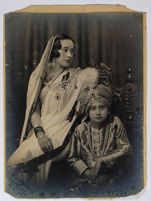 Moha Bhakta Laxmi and Rudra - Royal Family of Bansi, Circa 1933