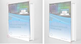 Cara Membuat Mockup Cover Buku di Photoshop, setting mockup di phosothop