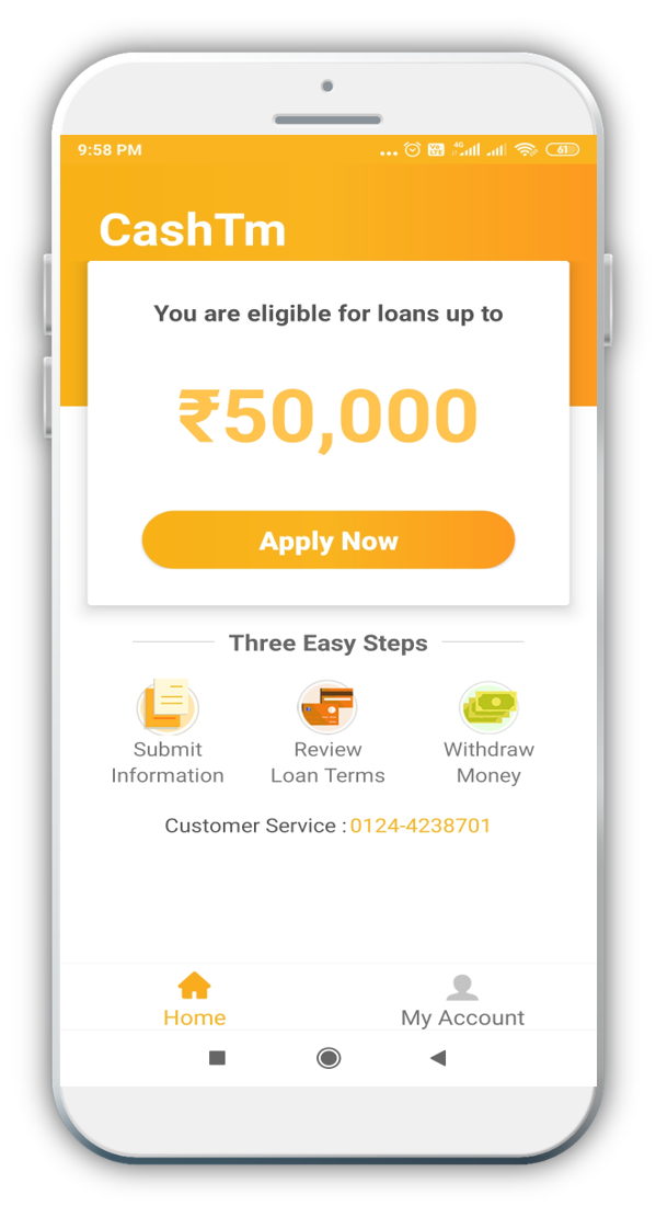 CashTm: Apply Instant Personal Loan from Rs.2,000 to Rs.50,000 Without any income proof or No ...