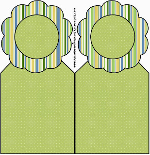 Green, Blue and Orange, Free Printable Bookmarks.