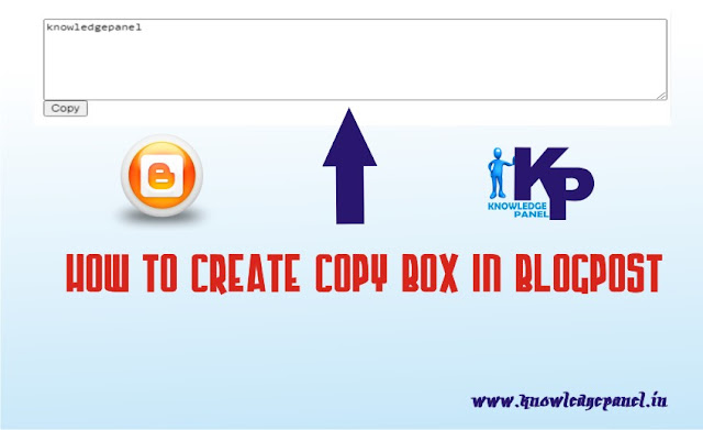 How Create Copy Box in Blogger Post