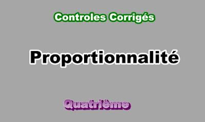 Controles Corrigés de Proportionnalité 4eme en PDF