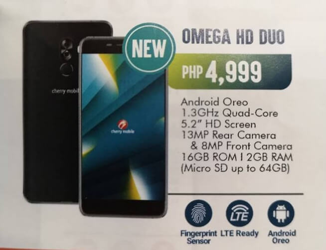 Cherry Mobile Omega HD Duo Silently Announced for Php4,999