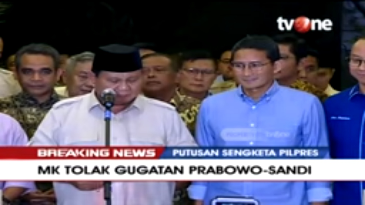 Tolak Menyerah, Ini Pernyataan Tegas Prabowo Soal Putusan MK