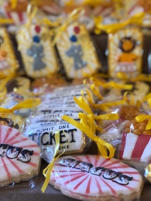 cookie favors, carnival cookies, circus cookies