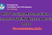 RPP Daring Matematika 1 Lembar SD/MI Kelas 3 Revisi 2020
