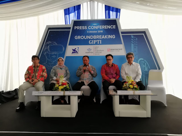 Press Conference Groundbreaking GIPTI di BSD City
