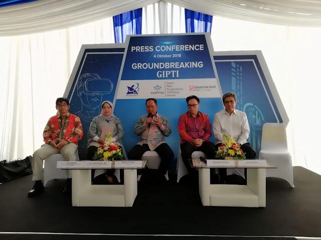 Press Conference Groundbreaking GIPTI di BSD City