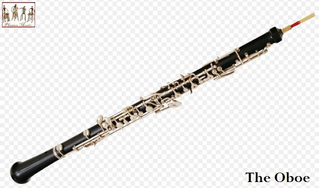 he oboe is a musical instrument of the woodwind family. It is classified as a soprano-range, double-reed woodwind instrument of 2 foot length. The oboe was first referred to as an hautbois when it appeared in the 1600s.