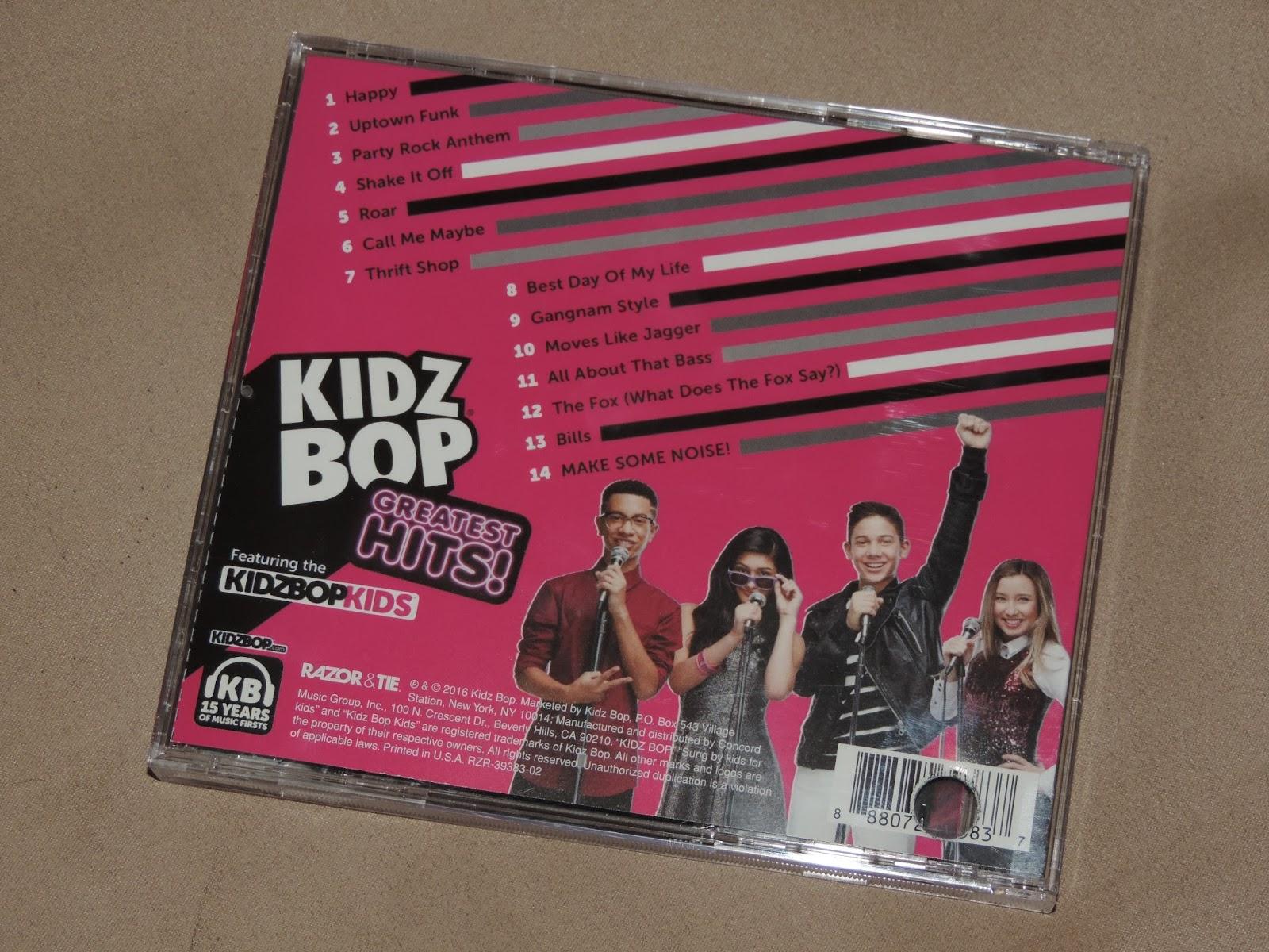 mail4rosey: kidz bop greatest hits cd & tour information!