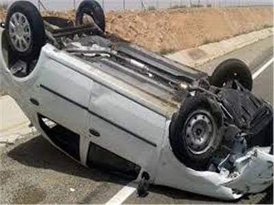 إصابة طالبتين في حادث انقلاب سيارة ملاكي بسوهاج