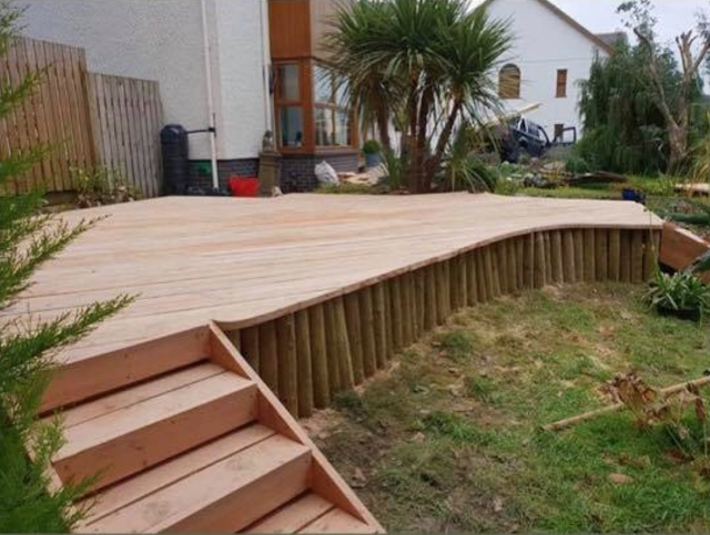 douglas fir timber deck
