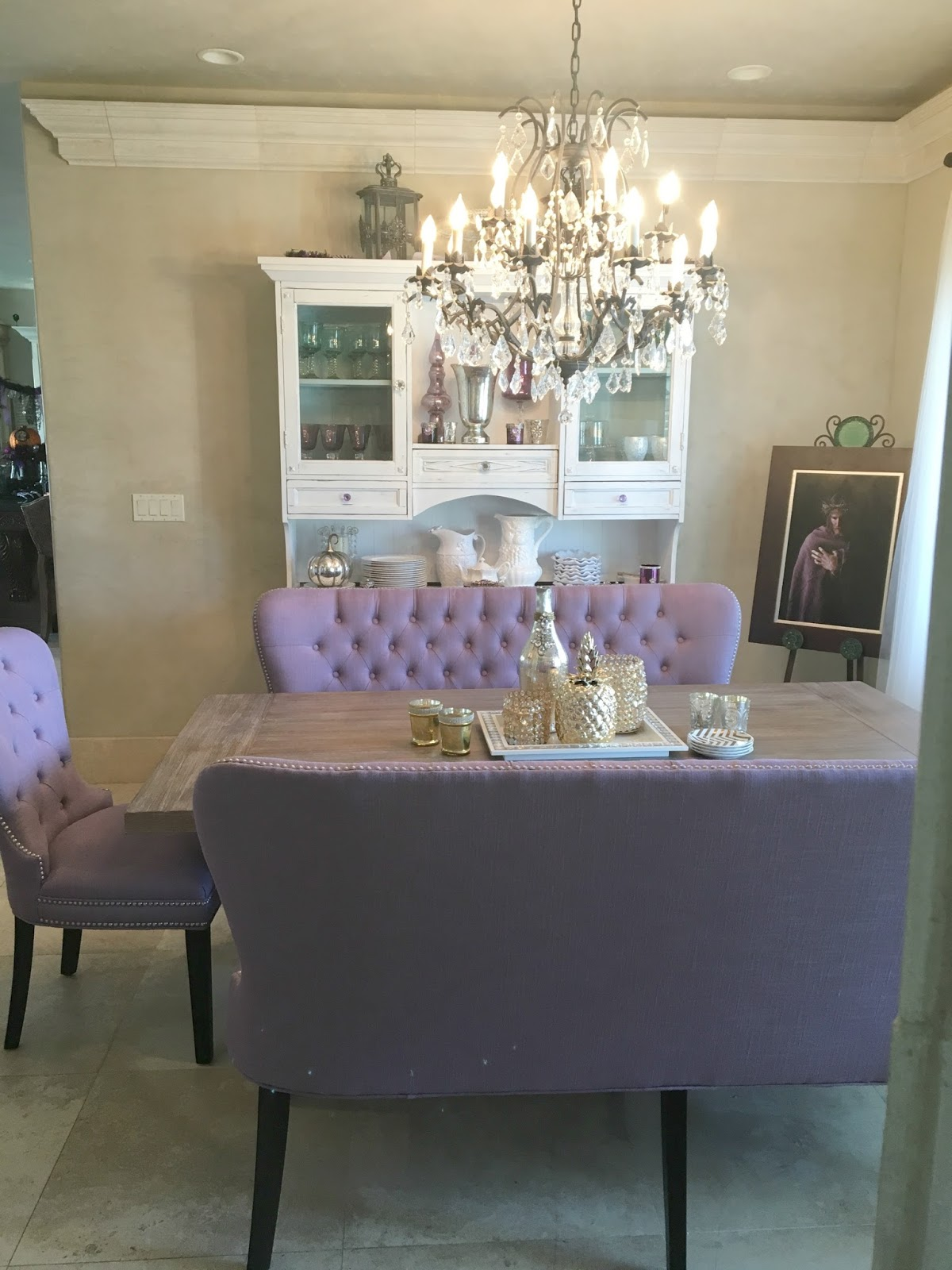 Dining Room Makeover Finished - Purple Chocolat Home