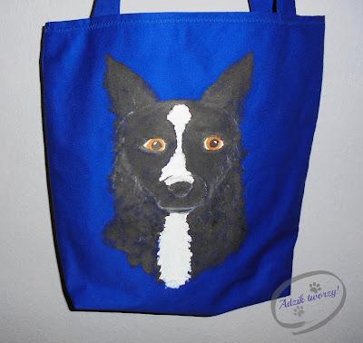 materiałowa torebka ręcznie malowana blog