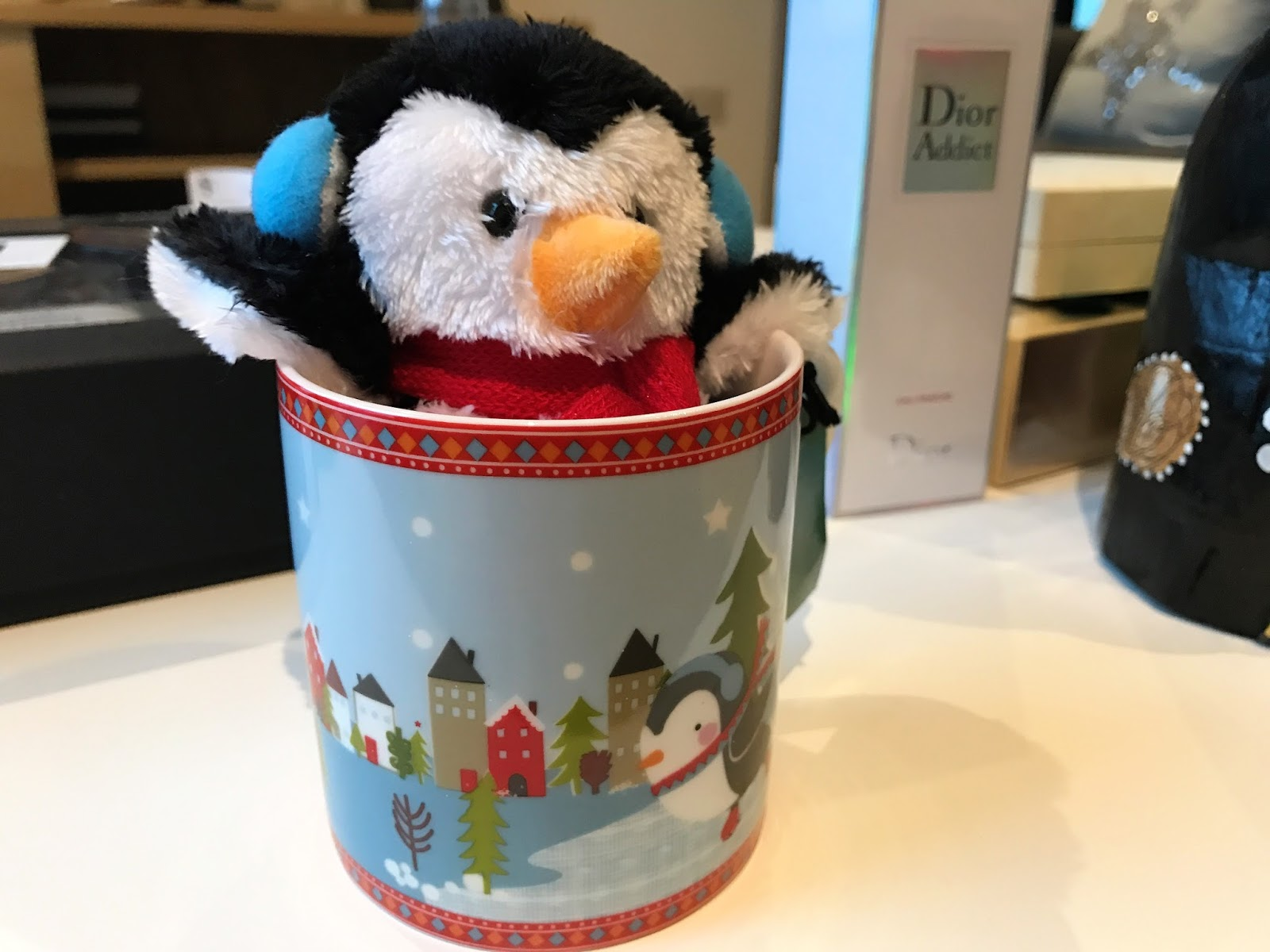 Waitrose penguin in mug