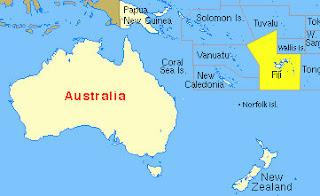 Ubicación de la República de Fiyí (Fiji)