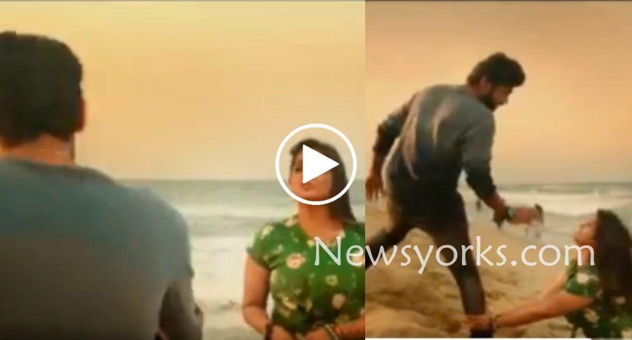 ரியோவின் காலில் விழுந்து கெஞ்சும் ரம்யா…? UNSEEN VIDEO… வைரலாகும் வீடியோ…!
