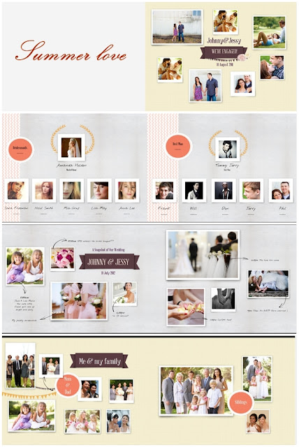 Summer Love Photobook Template