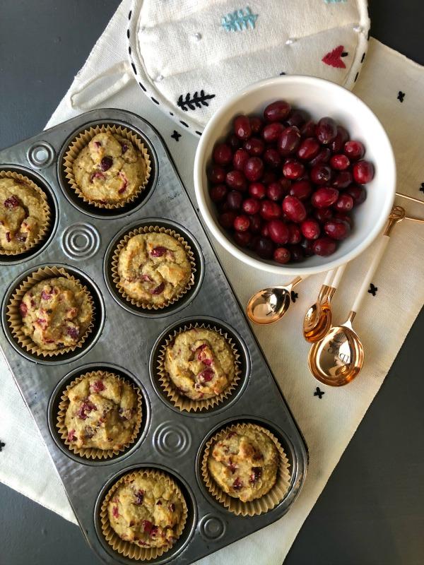 Paleo Cranberry Orange Muffins