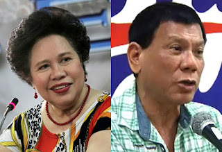 Rodrigo duterte and Miriam Santiago