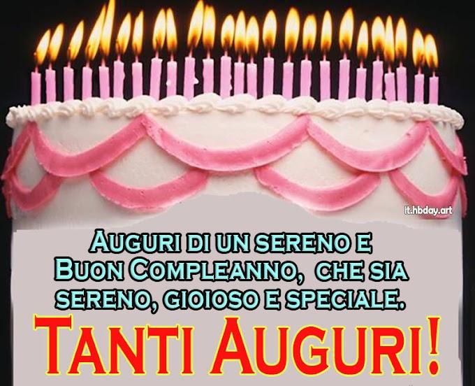 Biglietto di auguri di compleanno con foto di candela torta