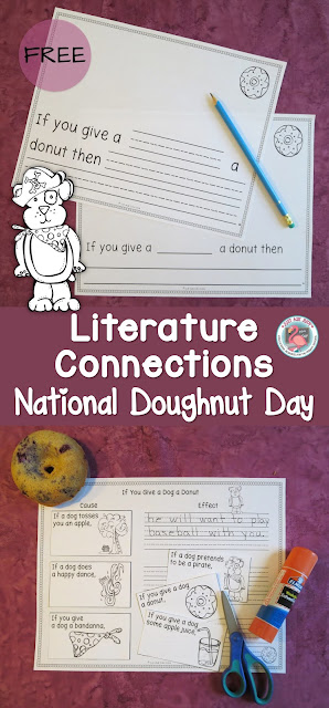 These two activities, one for writing and one for comprehension, provide a fabulous literature connection for kindergarten, first, and second grades. Celebrate National Doughnut Day the first Friday in June!
