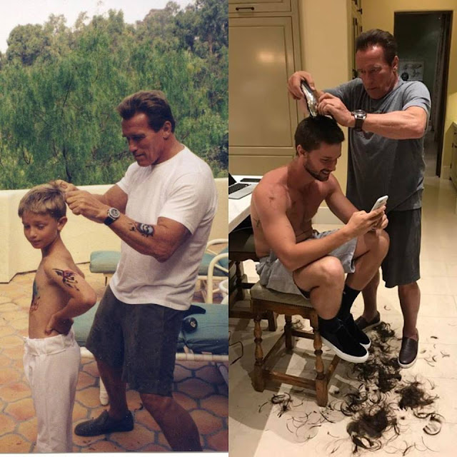 Look at Arnold Schwarzenegger Doing Something Adorable to His Son! It's Extremely Cute!