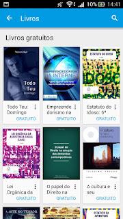 Aplicativo Google Play Livros gratuitos