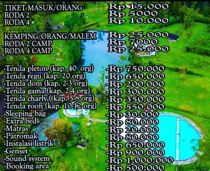 Wisata Tiket Kamping Kampung Cai Ranca Upas Ciwidey Bandung