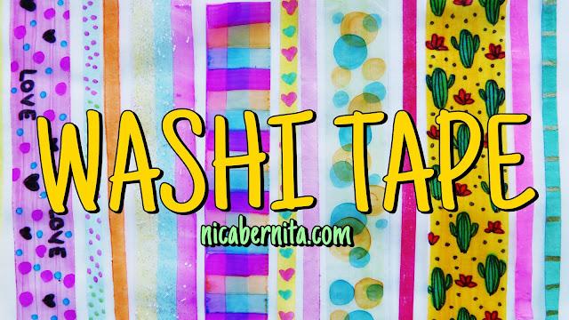 cómo hacer washi tape o cinta decorativa casera. Nica Bernita