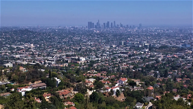 Overlook of metropolitan Los Angeles in California