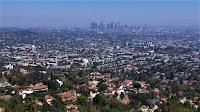 Overlook of metropolitan Los Angeles in California