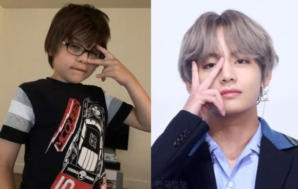 Examples of BTS V being a real life model for kids go viral in the online community