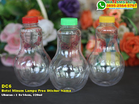 Botol Minum Lampu Free Sticker Nama