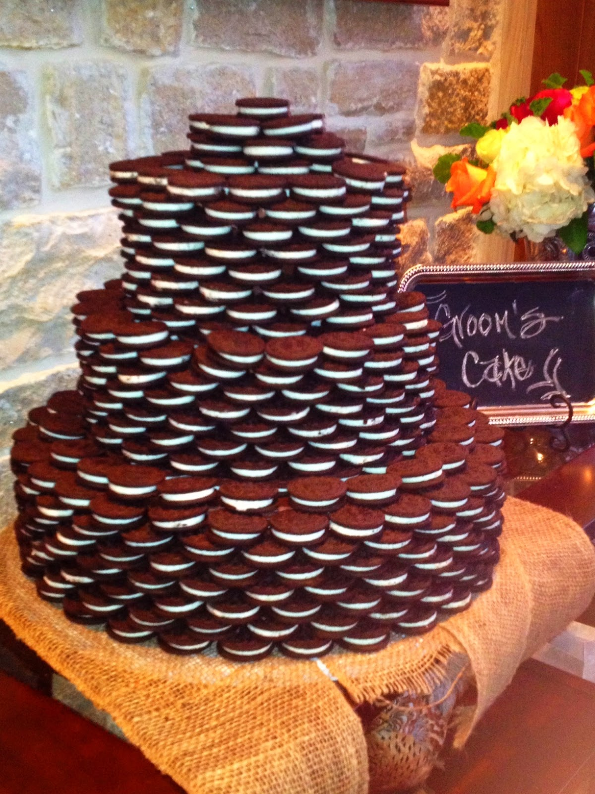 Just Add Candles Groom S Cake Oreo Tower