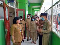 Pastikan Sesuai Prokes, Forkopimka Kemantren Ngampilan Cek Pembelajaran Tatap Muka di SD Muhamadiyah Yogyakarta