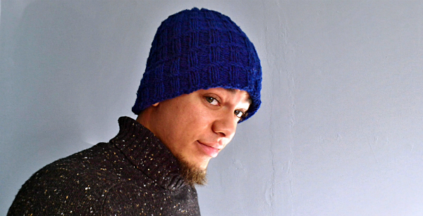 Wendy Ann Lindquist explains how to knit a double thick hat brim WATERKNYT graphic