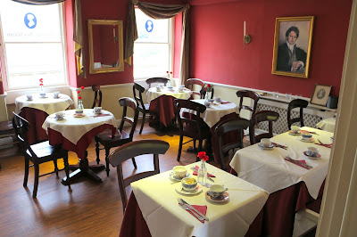 Regency tearooms at the Jane Austen Centre in Bath