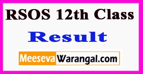 RSOS 12th Class Result 2018