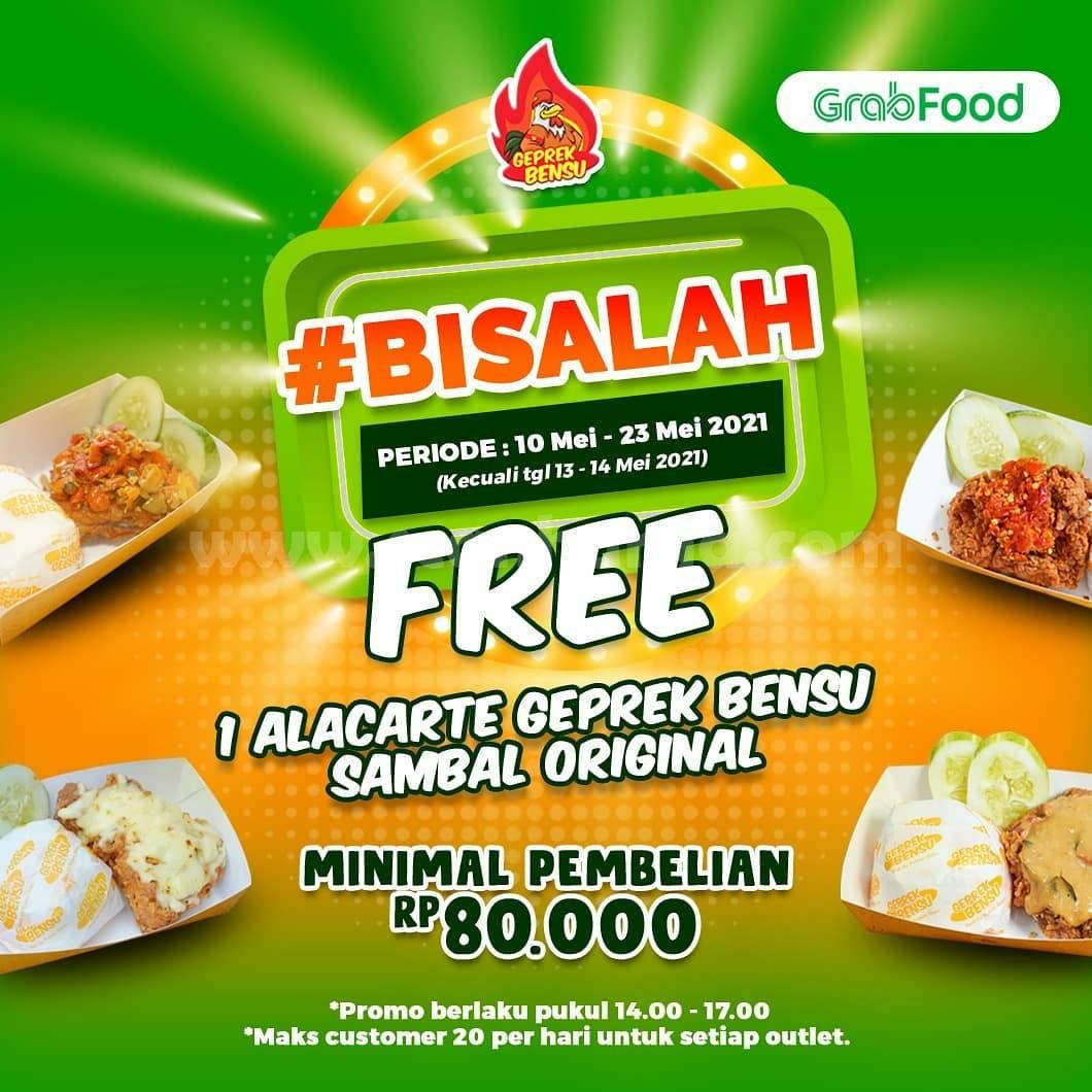 Promo GEPREK BENSU DISKON 25% Free Alacarte via GRABFOOD