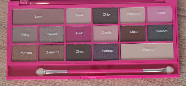 Oogschaduw in een roze palette.