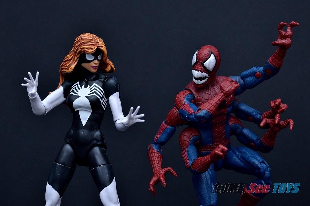 Spider-Man Marvel Legends Doppelganger Spider-Man Molten Man BAF