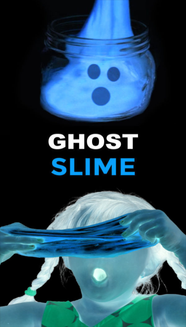 Wow kids of all ages and make Halloween slime that is ghostly cold! #ghostslime #ghostslimerecipe #slimerecipeskids #halloweenactivitiesforkids #growingajeweledrose