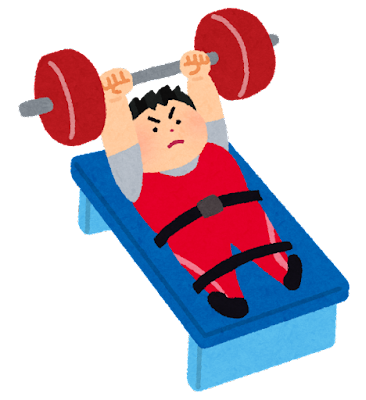重量挙げ・パワーリフティングのイラスト(パラリンピック)